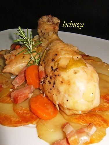 Pollo estofado campesina-detalle buena