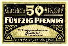 Allstedt, 50 pf, 1920 (Iliazd) Tags: germany inflation notgeld papermoney germancurrency 19181922 emergencymoney germanpapermoney