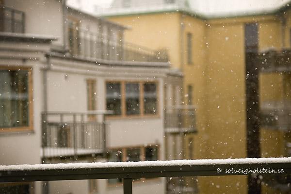 Titta det snöar