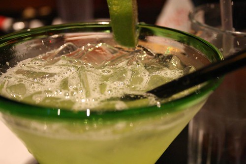 Midori margarita on the rocks