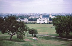 Greenwich, 1980 (nicksarebi) Tags: london hospital river view greenwich palace wharf canary 1980