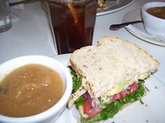 Yummy garden sandwich