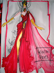 Initial Sketch - New Renaissance Collection - Brighton Frocks 09 (Renaissance Couture) Tags: red fashion gold silk satin runway renaissance catwalk redsatin brightonfrocks eveningdresses renaissancebrighton