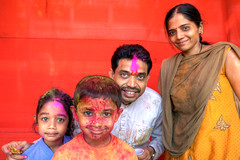 Playing with colour during Holi, Panji, India (Timothy Neesam (GumshoePhotos)) Tags: portrait india color colour religious colorful paint goa powder celebration colourful timothy hindu holi celebrate neesam panji
