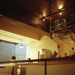 LOTUS (Teppei Takahashi) Tags: 120 6x6 film japan tokyo cafe lotus bronica sq kitchin