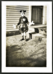 MOUSE KID (Brechtbug) Tags: halloween wearing vintage mouse costume dad disney mickey circa 1939 1937 my