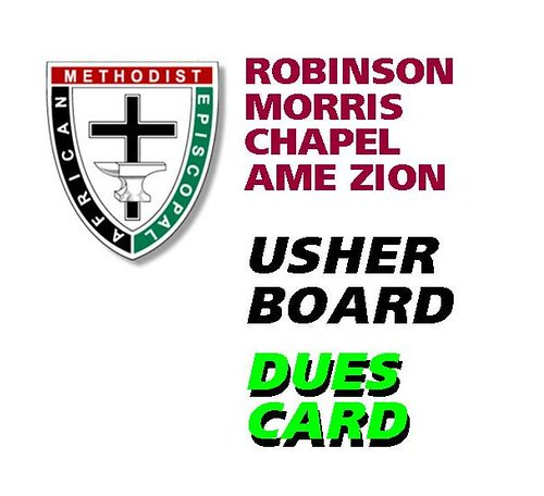 DUES CARD front - robinsonmorrisamezion - apr09