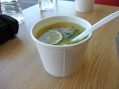swiss hot dog company - establishing soup shot
