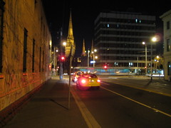 City Cathederal (mJgould) Tags: taxi tram melbourne cathederal