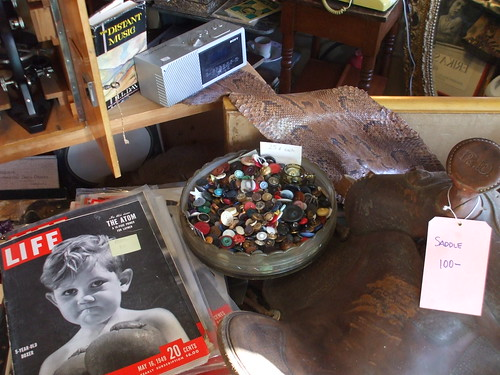 Magnificent bowl of buttons at The Needle