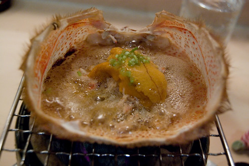 Simmering hairy crab