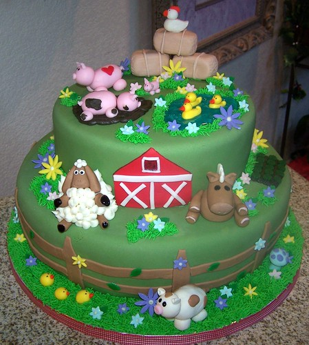 Farm Animal Birthday Cake Wallpaper