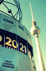 It's not that far... (Kath W.) Tags: berlin fernsehturm australien deutschetelekom weltzeituhr invitedby