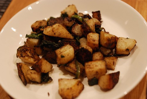 potato and spinach