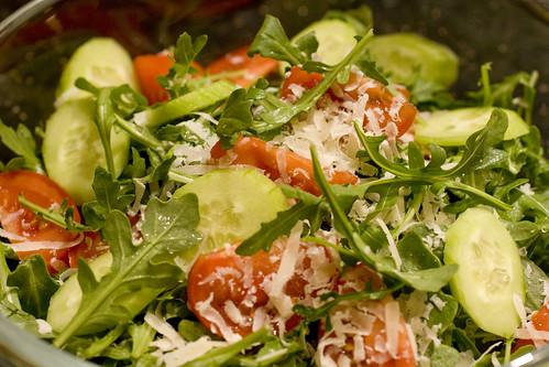 un-dressed salad