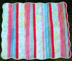 batik quilt front
