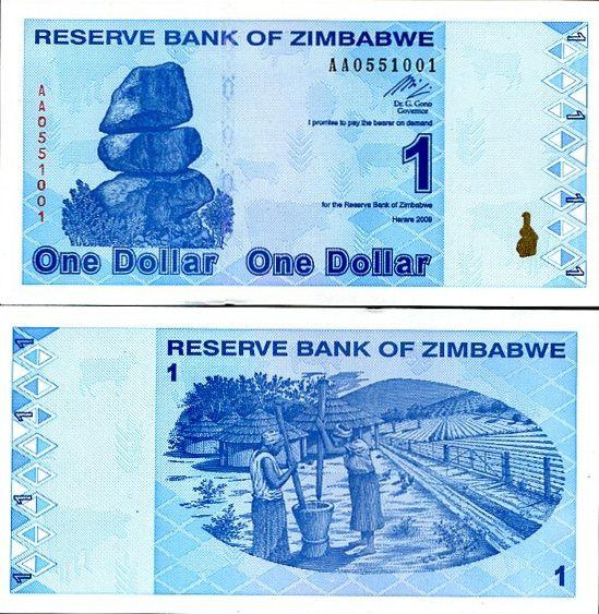 Zimbabwe 1 dolár 2009