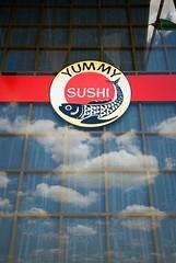 yummy sushi sign
