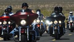 Biker Blessing #3-1524 (Steve's Reflections) Tags: motorcycles ridgecrest harleys us395 bikerblessing