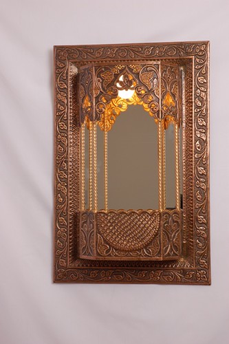 Antique Wall Mirror Lamp, Antique Handicraft
