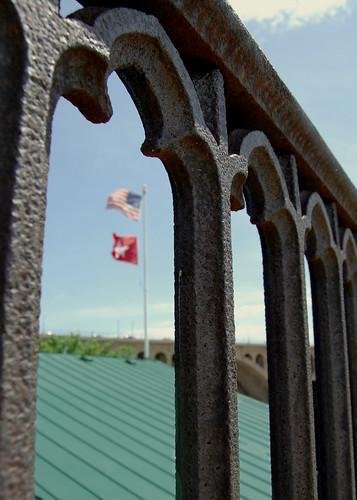 grates, boathouse, bridge