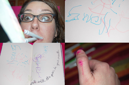 wreck this journal: Write with a pen in your mouth