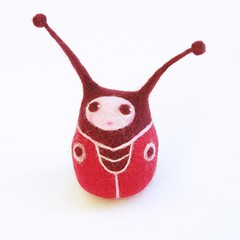 LadyBug art doll - for Fabric Fun Dolls 2009 in Singapore (fingtoys) Tags: red cute miniature doll felting felt plush softie needle ladybug arttoy matryoshka fing designertoys toyshow fingtoys