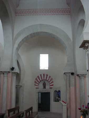 San Cebrián de Mazote, Valladolid. Interior.