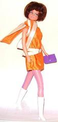 PEACH MELBA (Virgin-Archer) Tags: vintage toys mod dolls barbie clone maddiemod teenagefashiondoll