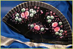 fancy fan (freespiritted) Tags: black fan oriental cooloff paintedflowers