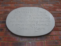 Photo of Scrivens Buildings grey plaque