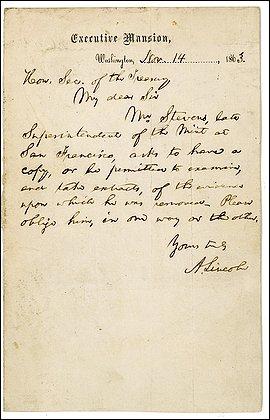 Lincoln Letter image