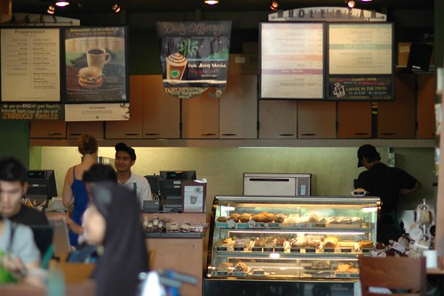 Inside Starbucks Coffee Shop. Inside Starbucks @ KLCC by