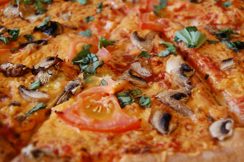 Vegan Pizza Close Up