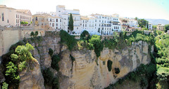 Cliffs of Rond (cwgoodroe) Tags: summer costa white hot sol beach del bells spain ancient europe churches sunny bull bullfighter adobe ronda moors walls washed clothesline protective newbridge roda bullring stonebridge oldbridge spainish whitehilltown rondah spanishdoors