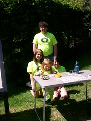 The youngest volunteer and some of her fellow volunteers