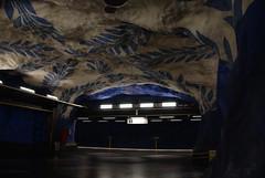 T-Bana-Station (flöschen) Tags: stockholm schweden skandinavien stadt sverige blau nordeuropa dunkel reise tunnelbana onrails08 creativecommonscentral