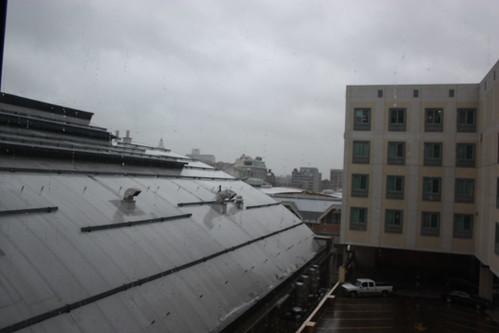 The view from our room at Philadelphia Hilton Garden Inn