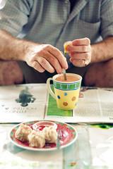 Relaxing Weekend (Kelvin Wong (Away)) Tags: food beauty breakfast canon wonderful newspaper amazing dof superb tea relaxing joe depthoffield sarawak meal excellent leisure interestiness canoneos400d canoneosrebelxti canoneoskissx kelvinwong piscesromance malaysiatrip2009