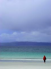 Paddling (Lanvacette) Tags: ocean life blue light red sea wild sky west colour beach water landscape hope coast scotland highlands heaven peace pastel joy mother hills mum serenity distance paddling arisaig camusdarach landislove
