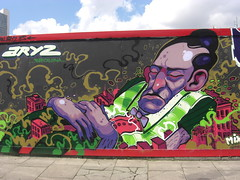 ARYZ (JOHN19701970) Tags: street city uk england urban streetart london art june wall graffiti meeting artists shoreditch styles spraypaint aerosol graffitiartist 2009 eastend sclaterstreet baconstreet meetingofstyles