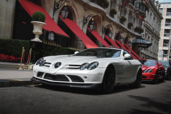 It's up to you! ([ JR ]) Tags: red white paris slr rouge mercedes s exotic mclaren blanc supercar qatar combo plazza 722 althani athne fialeix