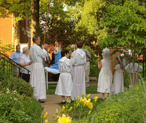 Corpus Christi Procession at Sacred Heart Roman Catholic Church, in Florissant, Missouri, USA - procession 2