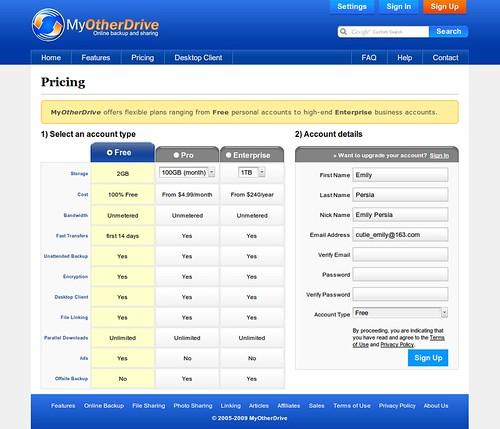 MyOtherDrive 2G免费支持外链网络硬盘