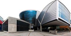 Suntory Museum, Tempozan, Osaka (cittadioro) Tags: panorama geotagged tadaoando ptgui sigma1020 nikond90 handheldpanorama geo:lat=3465365 geo:lon=135428928
