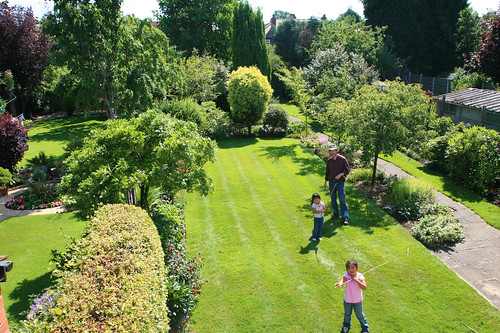 Pat and Dylis's yard in Altrincham
