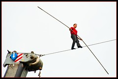 Nik Wallenda Walks Across Pittsburgh