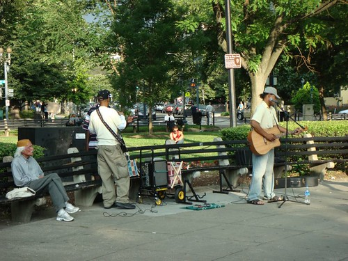 Street musician at Dupont Circle, D.C.