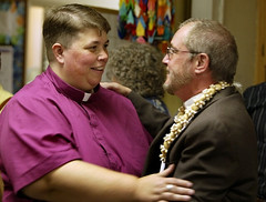 Transgender minister (not the one in purple) comes out to his congregation