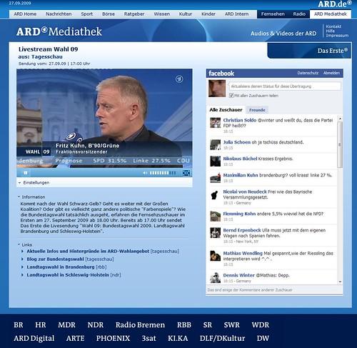 ARD-Livestream mit Facebook